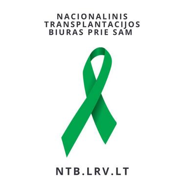 Transplantacijos biuro logo